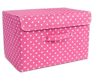 Pink-Storage-Box-With-White-Dotts-Kawaii-Interior